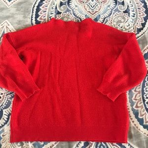 Girls size 5 red sweater